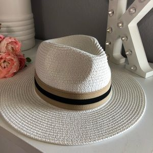 New white summer hat